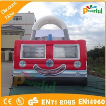 hot sale beautiful outdoor largest fire truck inflatable bounce house