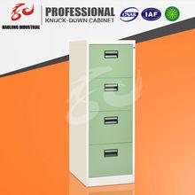 Modern Design Office Furniture file storage vertical gray metal 4 drawer cabinet