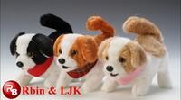 ICTI Audited Factory Electronic walking and nodding dog stuffed plush toy