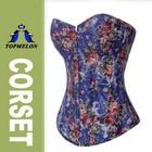 2015 Topmelon sexy overbust print corset bra bustier lingerie underwear