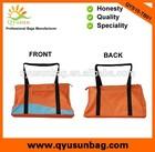 Custom made waterproof orange nylon duffel bag