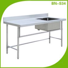 Foshan supplier kitchen stainless steel sink table / work table BN-S34