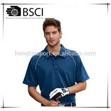 men polyester polo shirts piping active shirts Hongtai Factory golf garments ball wear