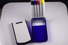 colorful 5 pcs inside highlighter pen pencil set