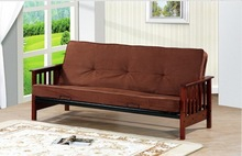 2014 New Popular Wood Arm Sofa Metal Bed
