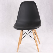 PC801-W Eames Style Molded Plastic Side DSW Chair Wooden Dowel Base