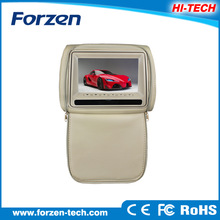 Small size 7inch car headrest dvd with zipper cover &touch screen