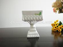 New Design White Porcelain Ceramic Cake Tray