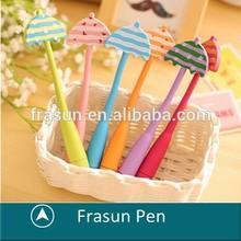 Umbrella Type Rubber Eco Pen,Novelty Ballpoint Pen