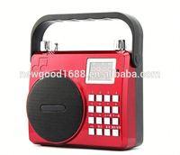 Mini speaker Mobile Music Speaker Portable Sound box with TF Card reader USB + FM Radio
