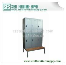Steel Wardrobe,Metal Locker with Bench/Clothing Locker