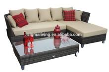 2014 Antique Furniture Home Furniture 3 pc Rattan Sectional Sofa Garden Furniture