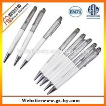 Promotional custom metal gift pen with acrylic crystal