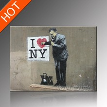 I LOVE YOU Banksy's Art Picture Prints Doctor