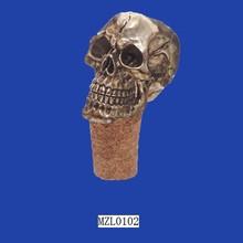 Funky Gothic Resin Skull Wine Bottle Cork Stopper