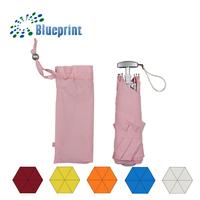 6 Panels Small Light Square Handle Pretty Girl 3 Folds Umbrella Gift