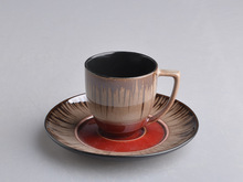 2015 The beautiful metallic cup&saucer set for coffee shop,home use
