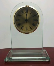 Crystal Arched Clock by Prism AwardTrophy or Decor Includes FREE Engraving