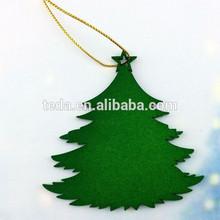 2015Teda Good Sale Vintage Wooden Christmas Tree Hanging Ornament