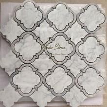 Hot Carrara White Water Jet Marble Designs