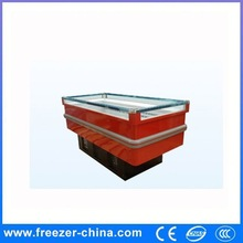 supermaket humanized design and easy to pick up good self carried type island cabinet display meat