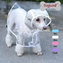 Clear Pet Dog Cat Raincoat Clothes Puppy Glisten Bar Hoody Waterproof Rain Jackets dog pet raincoat