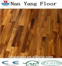 Iroko 3 ply/3 strip wood floor 3mm top layer factory price