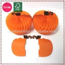 Halloween Paper White Foam Artificial Craft Pumpkins