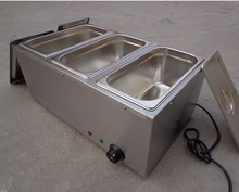 commercial 3 pans stainless steel electric bain marie food warmer