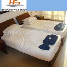 Hotel life twin size sheet sets flat sheet pillow case