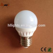 G45 ce rohs ceramic warm white 3000k 3w 12v solar led bulb
