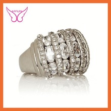 Hot sale jewelry 2015 cushion cut halo opal and zircon ring in sterling silver