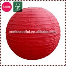 Bright Red glitter paper lanterns for party supplies set round lanterns