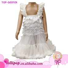 Wholesale baby white color lace summer wedding party girl dress