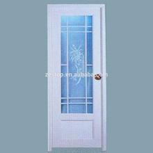 Elegant shape picture inner grill aluminium glass balcony door design