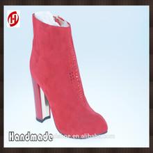 nice design women sexy high heel sheepskin high heel ankle boots