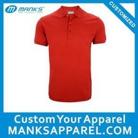 pique mercerized cotton mens formal short sleeve red polo shirts