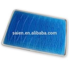 Blue cooling gel pad for pillow, PU gel sheet for mattress