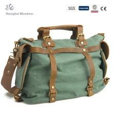 Men's canvas PU Leather handbag