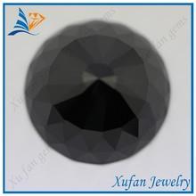 8mm round black fake bezel set gemstone beads wholesale
