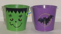 Halloween series metal bucket for promotion
