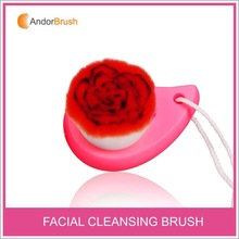 Hot sale flower design facial brush for wash face