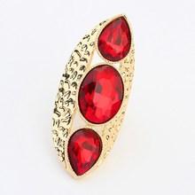 fashion exaggerate punk large gemstone finger ring