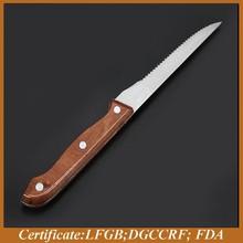 Wood handle kitchen knife