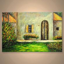 Scenery, 100% Handmade, Original oil painting,