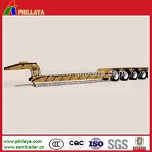 high tensile steel semi trailer type 2/3/4 axles hydraulic gooseneck detachable 80-150 tons low bed semi trailer