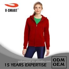 NW0020 Custom lady 300g polar fleece zip up blank hoodie hoody design wholesale+ can add your logo