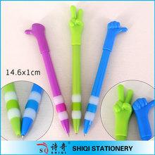 Novelty rubber grip finger ballpoint pen