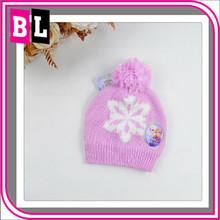 Hot Selling New Arrival Children Birthday Gift Cotton Handmade Knitting Frozen Elsa Hats ZYL-FR-27