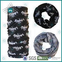 Fashionable seamless plain black ground color side pirate bandana